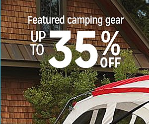 Up to 35% off featured camping gear