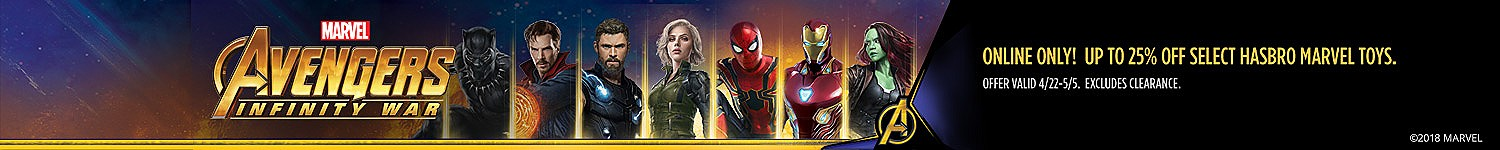 Online Only | Up to 25% off select Hasbro Marvel toys