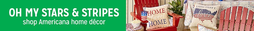 Oh my stars & stripes shop Americana home décor