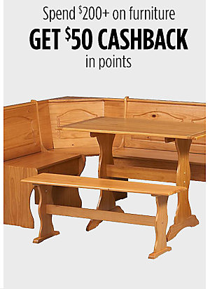 Spend $200+ on furniture get $50