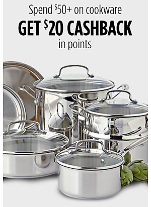 Spend $50+ on cookware get $20