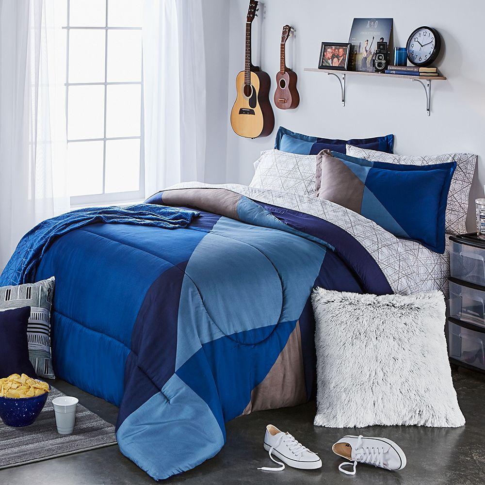 Blue Block Bedroom
