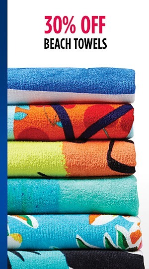 30% off Beach Towels