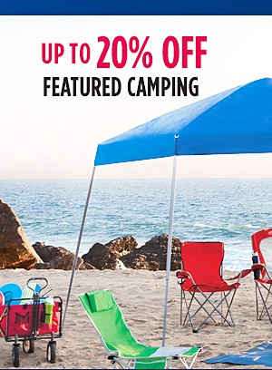Up to 20% off featured camping