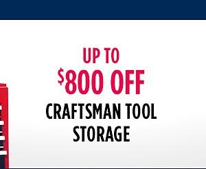 Up to $800 Off Craftsman Tool Storage