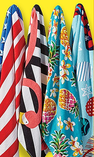 Featured beach towels, 20% off