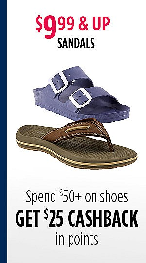 Starting at $9.99, sandals for the family on sale