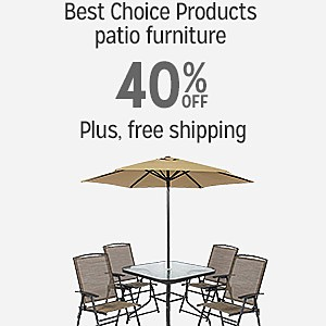 Best Choice Products patio furniture, 40% off | plus, free shipping