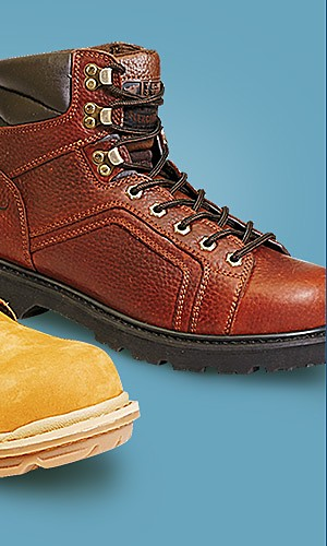 Men's work shoes & boots, starting at $29.99
