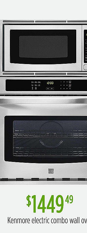"Kenmore 49603 27"" Electric Combination Wall Oven - Stainless Steel 