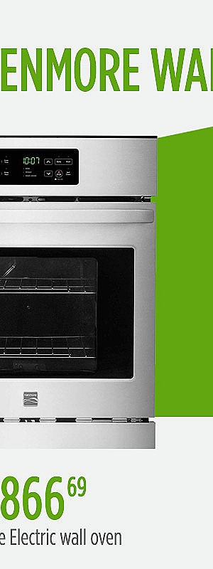"Kenmore 40543 24"" Self-Cleaning Electric Wall Oven - Stainless Steel 
