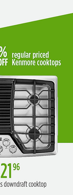 "Kenmore Elite 31113 30"" Gas Downdraft Cooktop - Stainless Steel 