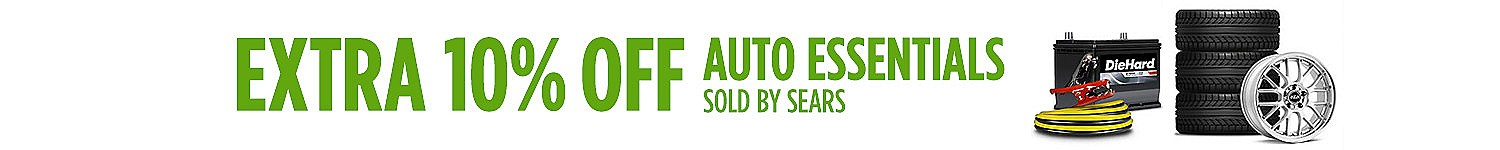 Extra 10% off auto essentials sold by Sears