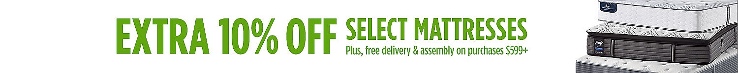 Extra 10% off select mattresses