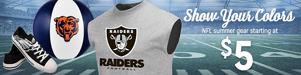 NFL Summer Gear Starting at $5