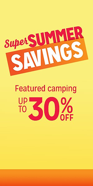 Featured camping up to 30% off