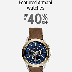 Up to 40% off on select Armani Watches