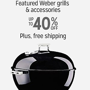 Up to 40% off PLUS FREE SHIPPING on select Weber Grills & accessories