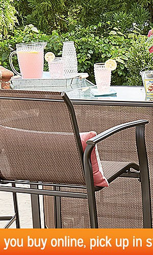 Patio Furniture up to 45% off | Plus, extra 10% off when you buy online, pick up in store with code: SUMMERFUN