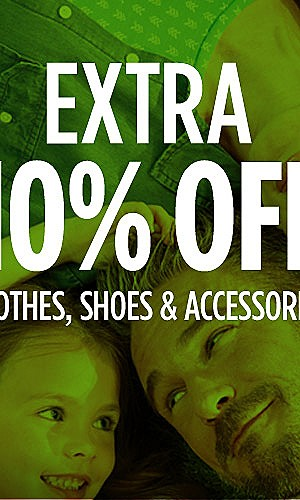 Extra 10% Clothes, Shoes & Accessories