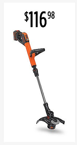 $116.98 | BLACK+DECKER LSTE523 20V EASYFEED™ Cordless String Trimmer & Edger