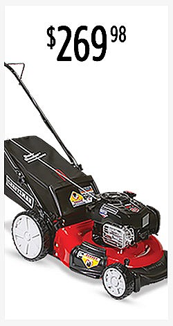 "$269.98 | Craftsman 37471 21"" 163cc Briggs & Stratton 3-in-1 Lawn Mower with High Rear Wheels"