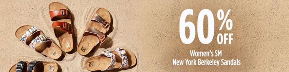 60% Off Women's SM New York Berkeley Sandals