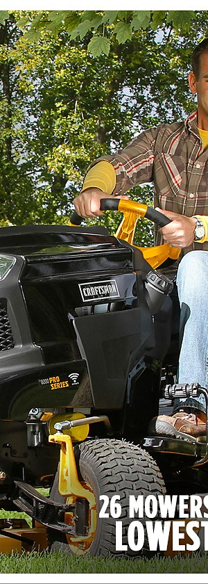 Extra 15% off riding & lawn mowers
