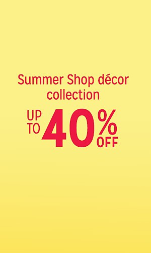 Summer shop collection, up to 40% off