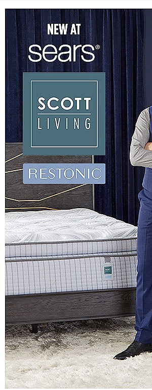 NEW at Sears — Scott Living RESTONIC mattress collection