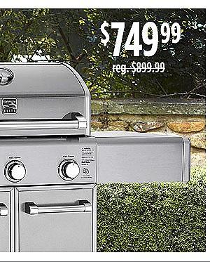 Kenmore Elite 3-Burner Dual-Fuel Gas Grill $749.99