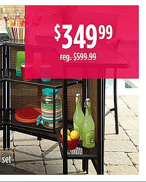 Garden Oasis Harrison 5 pc. Outdoor Bar Set $349.99