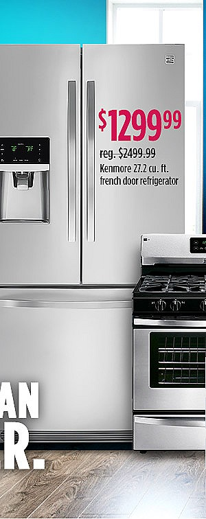 Kenmore 70343 27.2 cu. ft. French Door Refrigerator - Stainless Steel $1299.99  reg. $2499.99