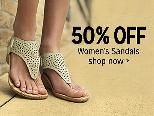 50% off women's sandals