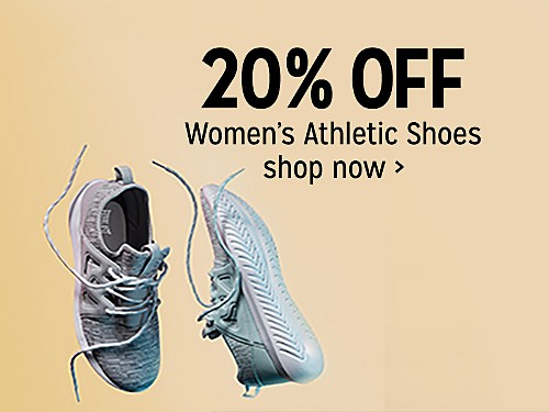 20% off women's athletic shoes