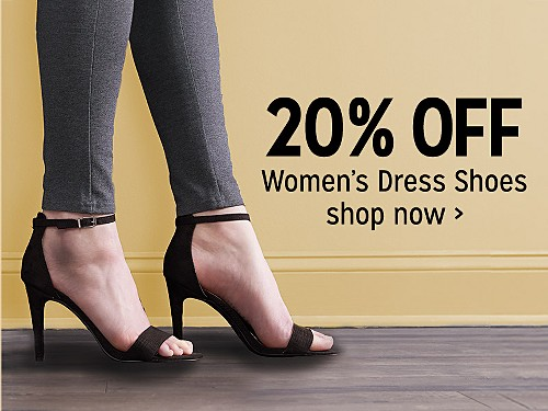 20% off women's dress shoes