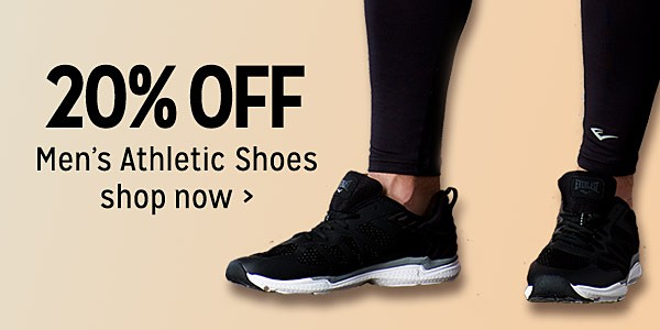 20% off men's athletic shoes
