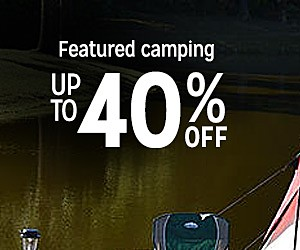 Feature camping up to 40% off