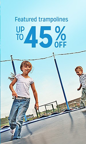Featured Trampolines, 45% off