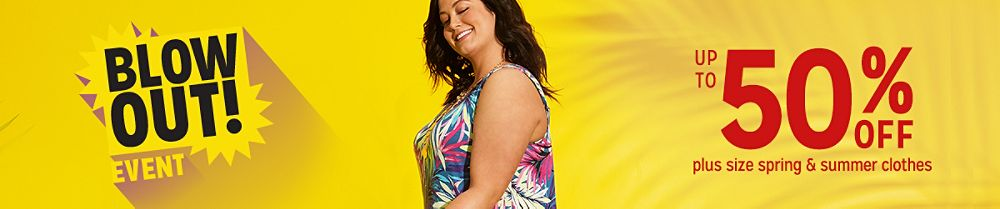 Up to 50% off plus size spring & summer clothes