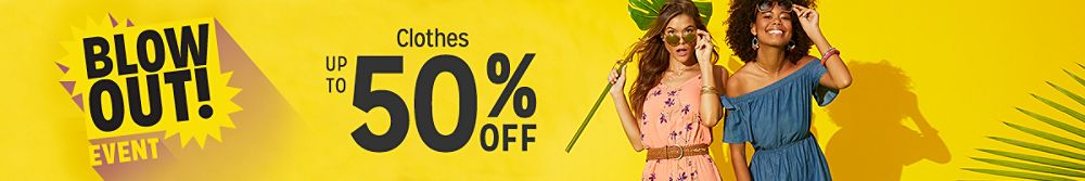 Up to 50% off clothes