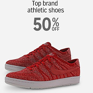 up to 50% off Top Brands in Athletic Shoes including Nike, Vans, Puma & Asics