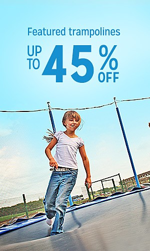 Trampolines, up to 45% off
