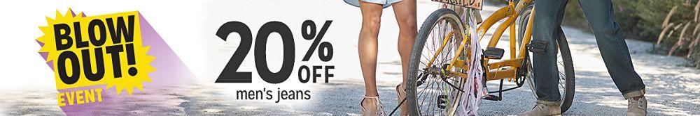 20% off men's jeans