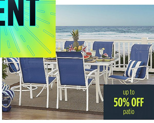 Summer Blowout | Up to 50% off patio