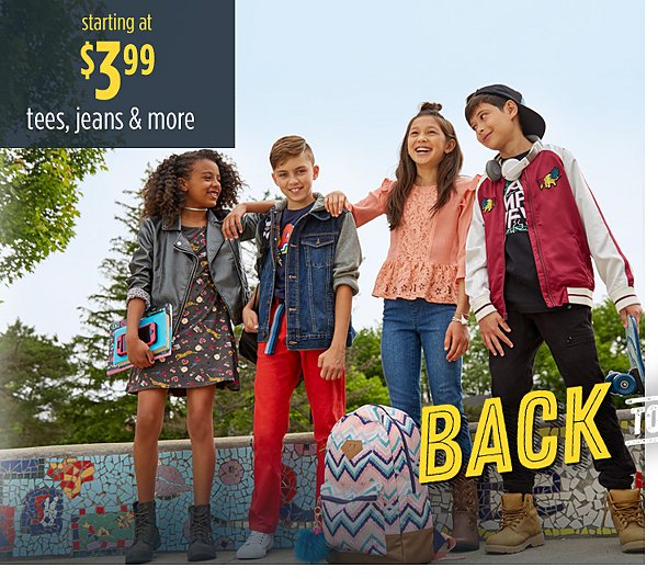 Summer Savings - Back to School | Starting at $3.99 tees, jeans and more