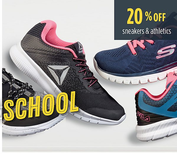 Summer Savings - Back to School | 20% off sneakers and athletics