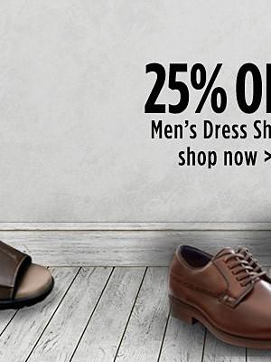 25% off Men's Dress Shoes