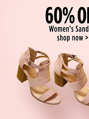 60% off Women's Sandals