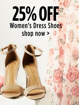25% off Women's Dress Shoes